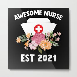 Nurse Graduation 2021 Gift Metal Print