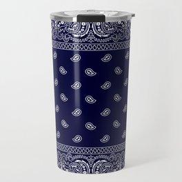 Bandana - Navy Blue - Southwestern Travel Mug