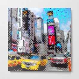 New York Pop Art Metal Print