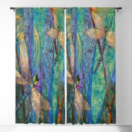 Colorful Dragonflies Blackout Curtain