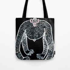 ape and his little friend Tote Bag