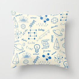 School Subjects Art For Science Lovers Throw Pillow