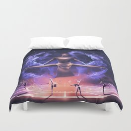 The summoning of the Dancing Zodiac Duvet Cover