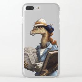 Archeology Stegosaurus Clear iPhone Case