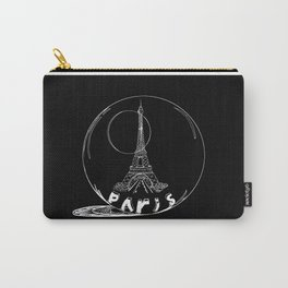 Paris city in a glass ball . Home decor, art prints Carry-All Pouch