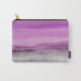 Pink and Purple Abstract Seascape Carry-All Pouch