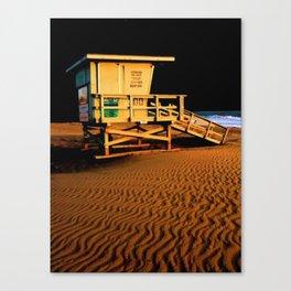 Lifeguard Station Night Canvas Print