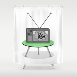 Kapow TV Shower Curtain