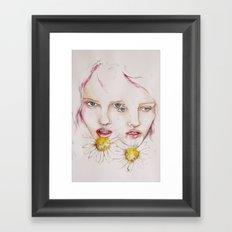 Make me a flower Framed Art Print