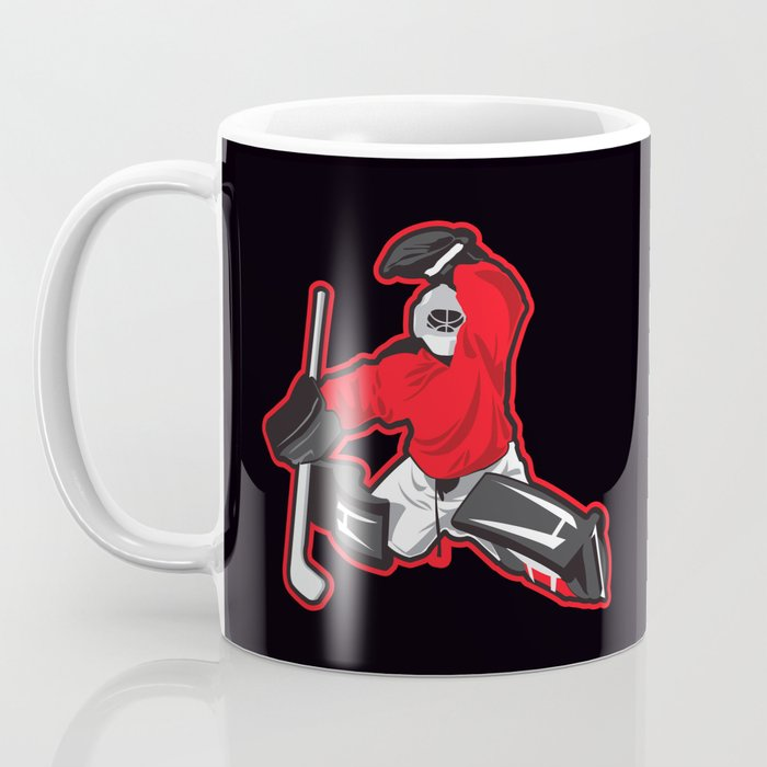 illustration of ice hockey goalie Coffee Mug