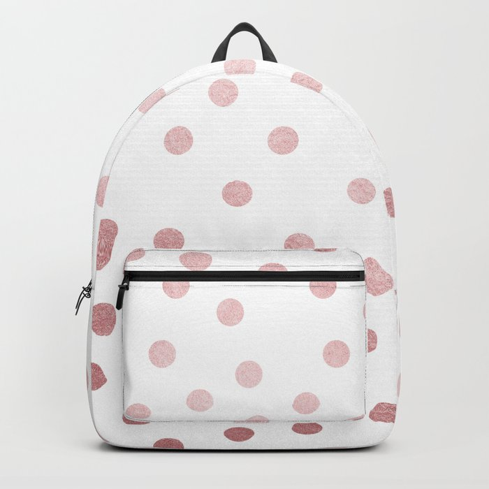 Simply Dots in Rose Gold Sunset Backpack