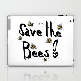 Save the Bees! - Black Laptop & iPad Skin