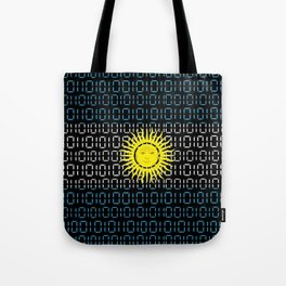digital Flag (Argentina) Tote Bag