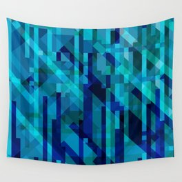 abstract composition in blues Wall Tapestry