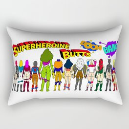 Superheroine Butts BOOM BANG Rectangular Pillow