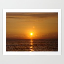 Blazing Sunrise Art Print