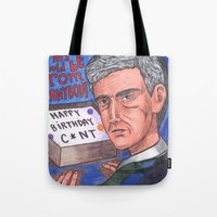 birthday Tote Bags featuring Birthday by Anna Gogoleva