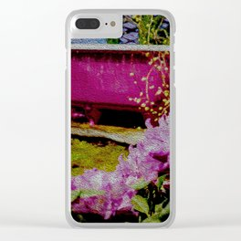 Pink Bathtub Clear iPhone Case