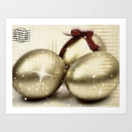 Gold Easter Art Print
