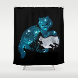 I can haz the moon Shower Curtain