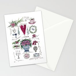 Darling Dottie Bridal Season pattern Stationery Cards