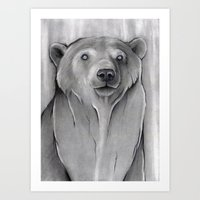 teddy bear Art Prints featuring Teddy Bear by Puddingshades