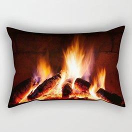 Fireplace Rectangular Pillow
