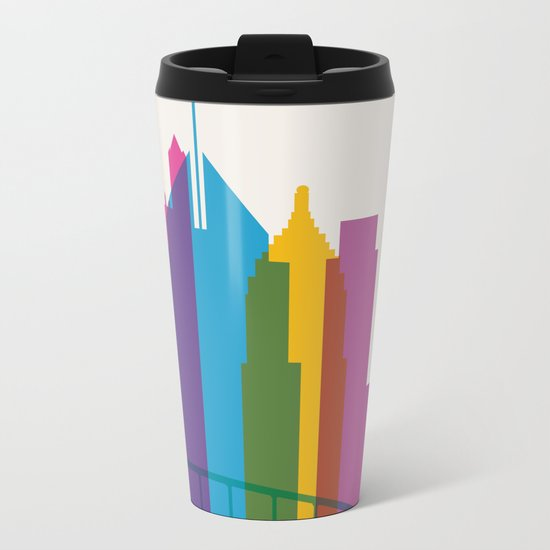 Shapes of Pittsburgh. Accurate to scale Metal Travel Mug