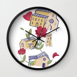 Italian village Wall Clock