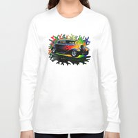 ford Long Sleeve T-shirts featuring 32 Ford by JT Digital Art