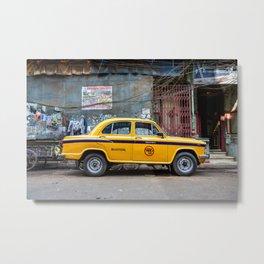 Taxi India Metal Print