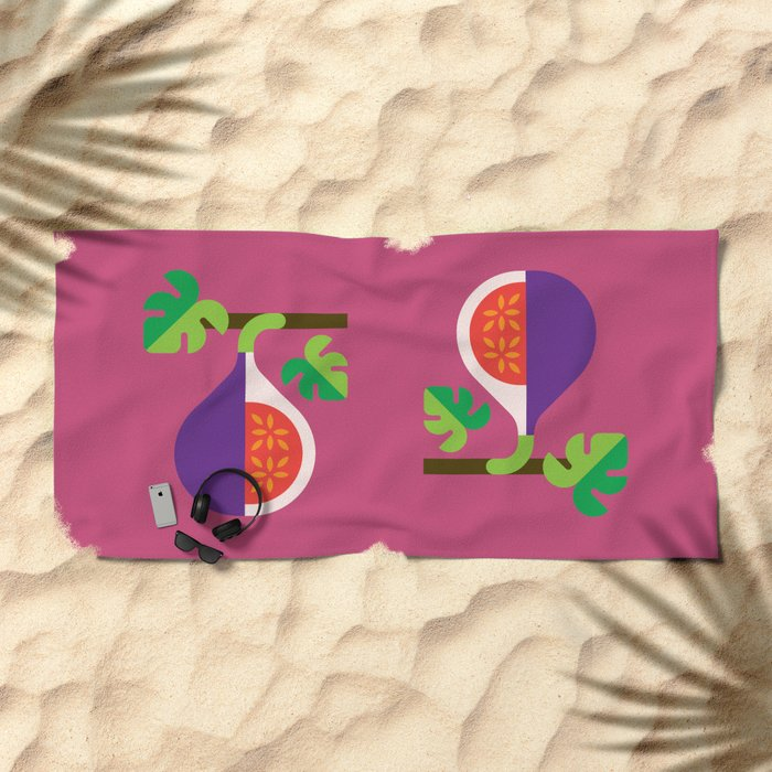 Fruit: Fig Beach Towel