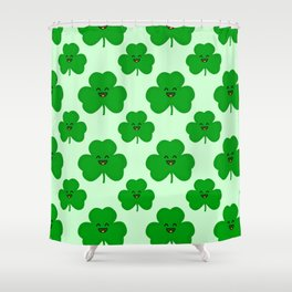 Happy Shamrock Shower Curtain
