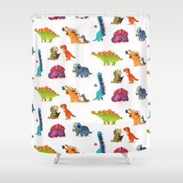 BOOK DINOSAURS Shower Curtain