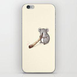 Koala Playing the Didgeridoo iPhone Skin
