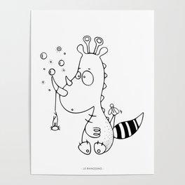 Le rhinodino Poster