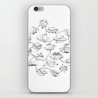 space jam iPhone & iPod Skins featuring Space jam by cloe de la vega
