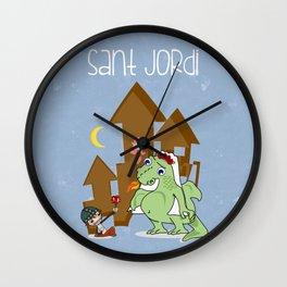 Sant_Jordi Wall Clock