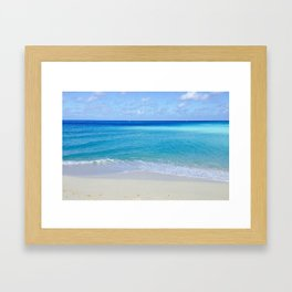 Turquoise and Sand Framed Art Print