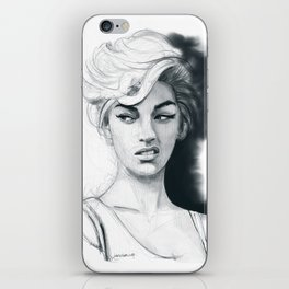 Face disgusted iPhone Skin