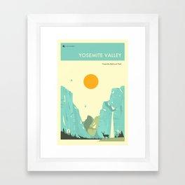 YOSEMITE NATIONAL PARK POSTER Framed Art Print