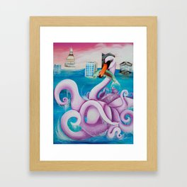 Nuclear Spill... Followed by a Take-Over Framed Art Print