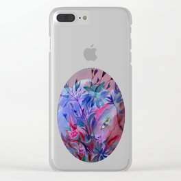 Fairy Bunny in Hiding Clear iPhone Case