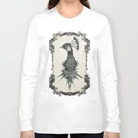 peacock Long Sleeve T-shirts featuring peacock  by NOA ALON ART