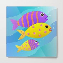 Fish Family Metal Print