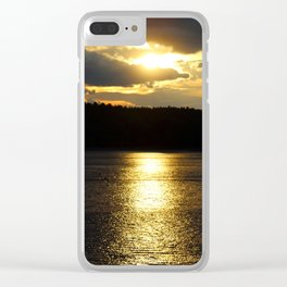 Sunset at Concord's Walden Pond 6 Clear iPhone Case