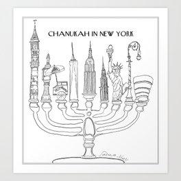Chanukah in New York Art Print