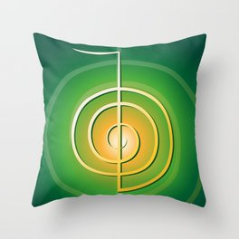 Cho-Ku-Rei - Reiki-Symbol Throw Pillow