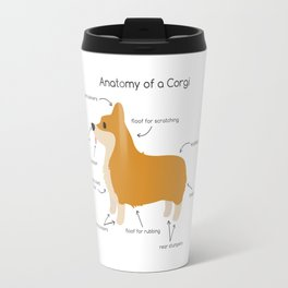 Anatomy of a Corgi Travel Mug