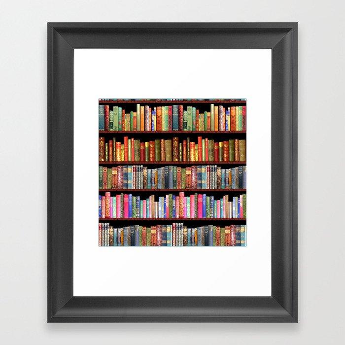 Vintage books ft Jane Austen & more Gerahmter Kunstdruck